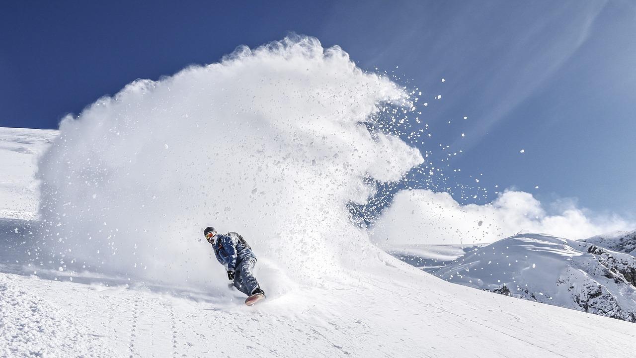 snowboarder in actie