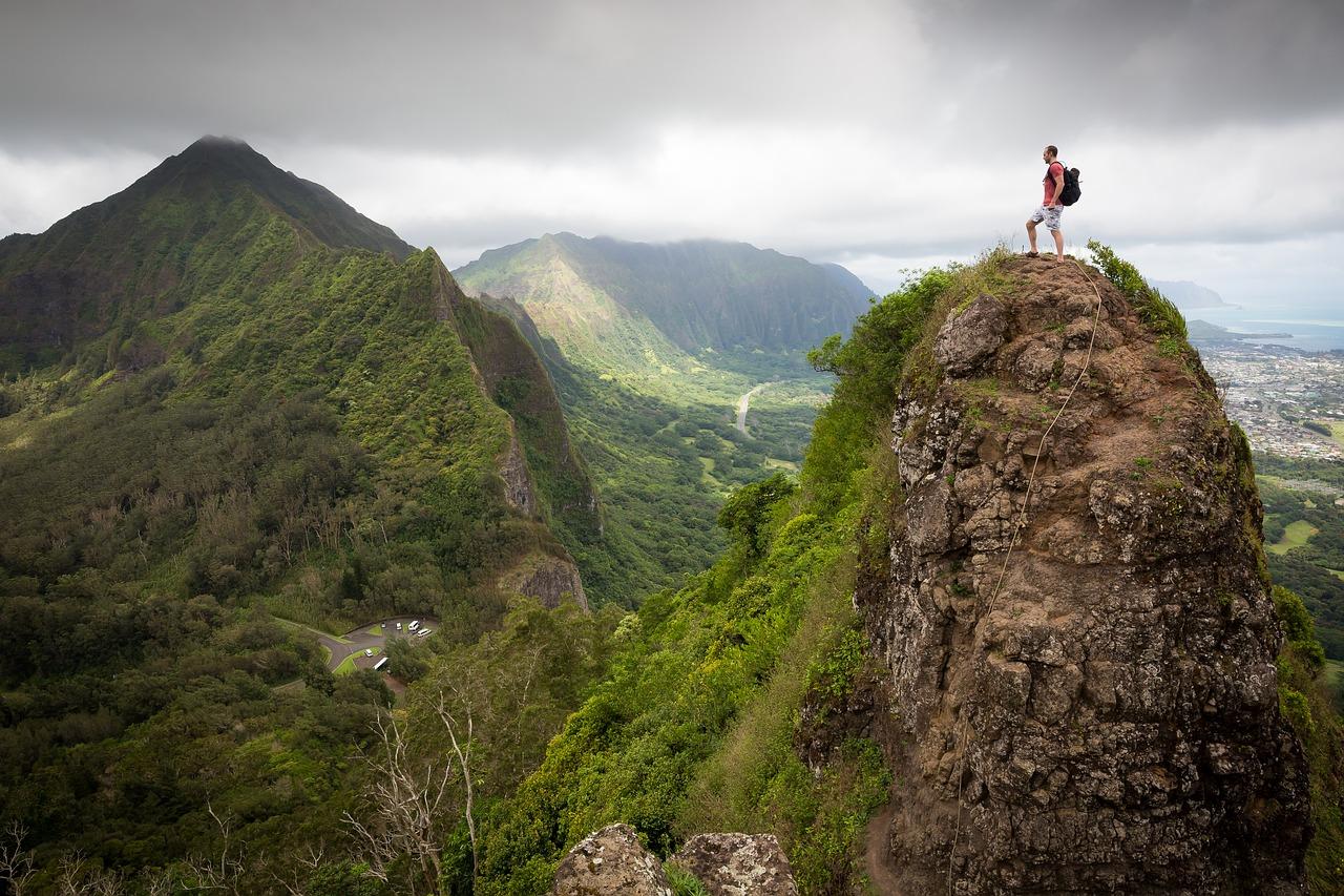 Hiking groene natuur