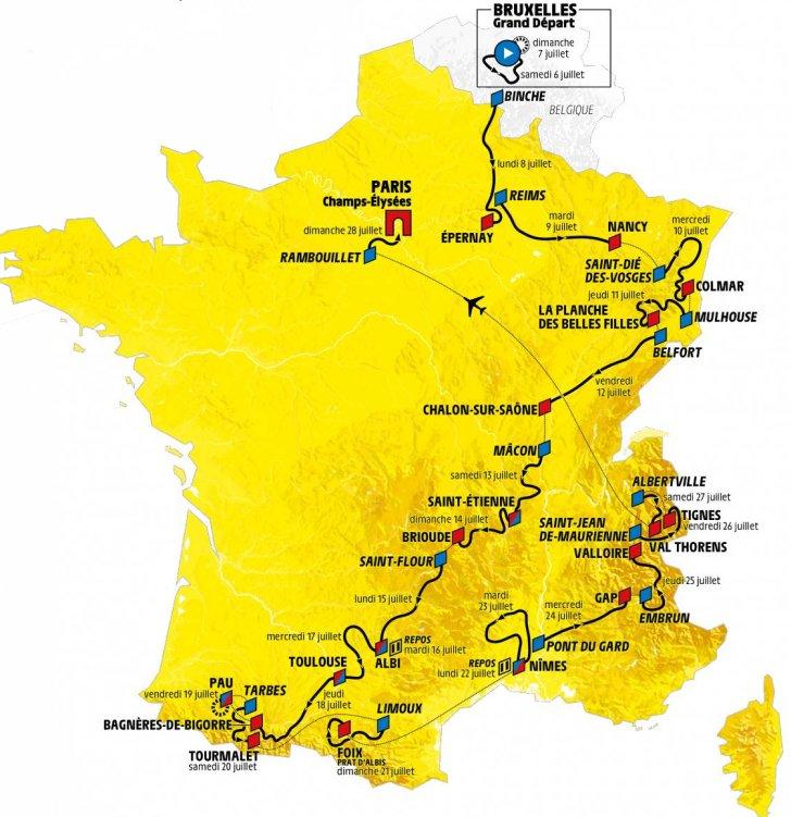 Route Tour de France 2019