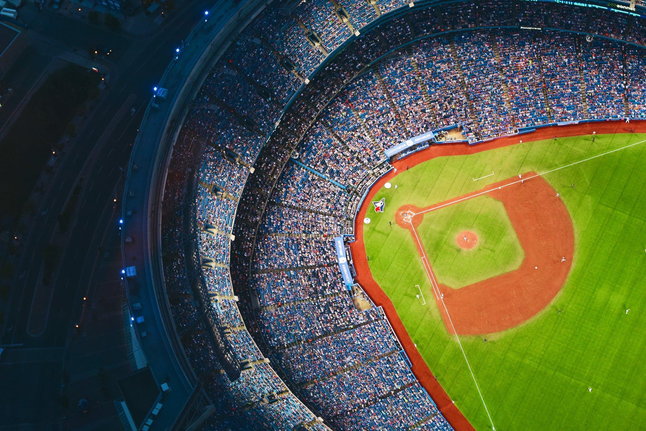 Hoogtefoto honkbalstadion
